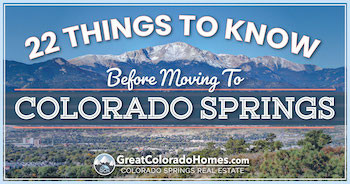 22 Things to Know Before Moving to Colorado Springs