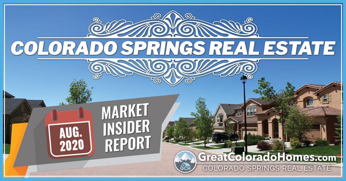 August 2020 Colorado Springs Real Estate Market