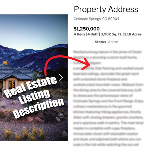 Property Listing Description Example