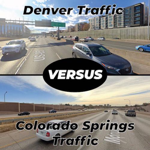 Denver Traffic Versus Colorado Springs