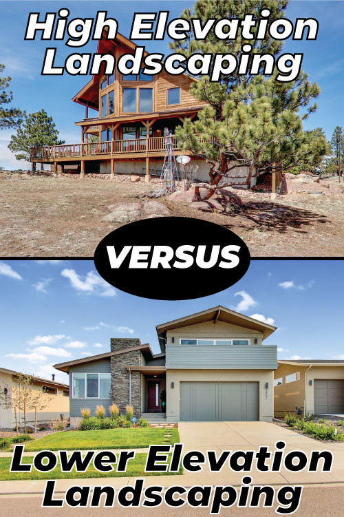 high versus low elevation landscaping