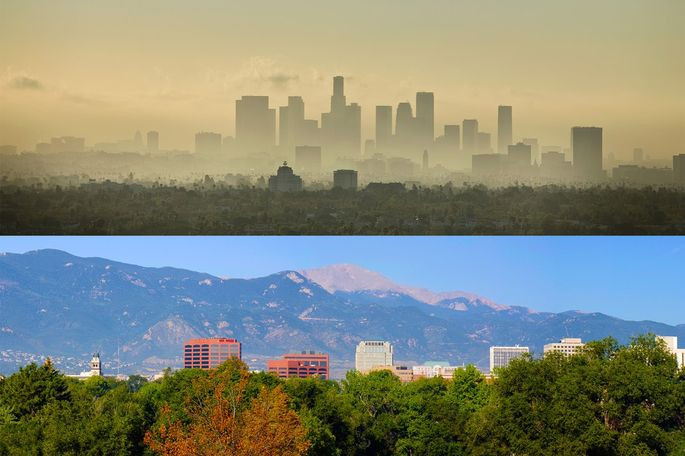Los Angeles Versus Colorado Springs Air Quality