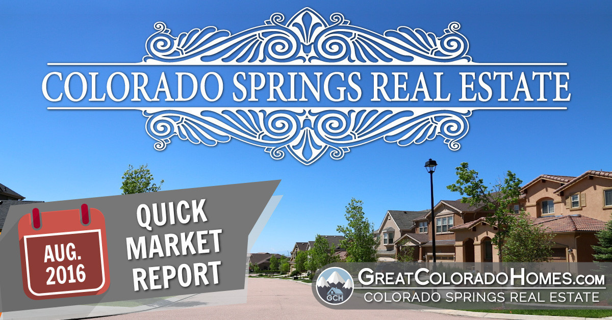 August 2016 Colorado Springs Real Estate Statistics for July 2016