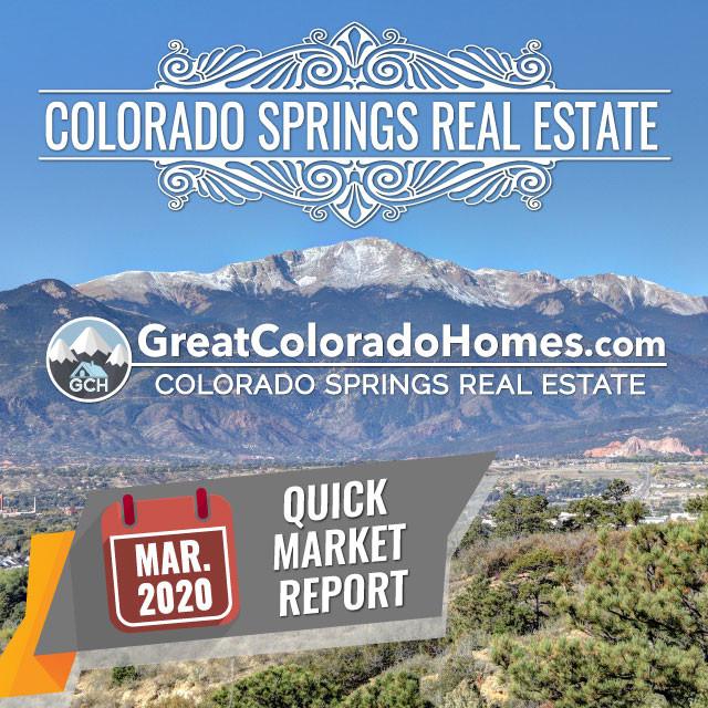 March 2020 Colorado Springs Real Estate Market