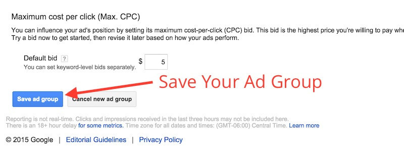 Save Your Ad Group