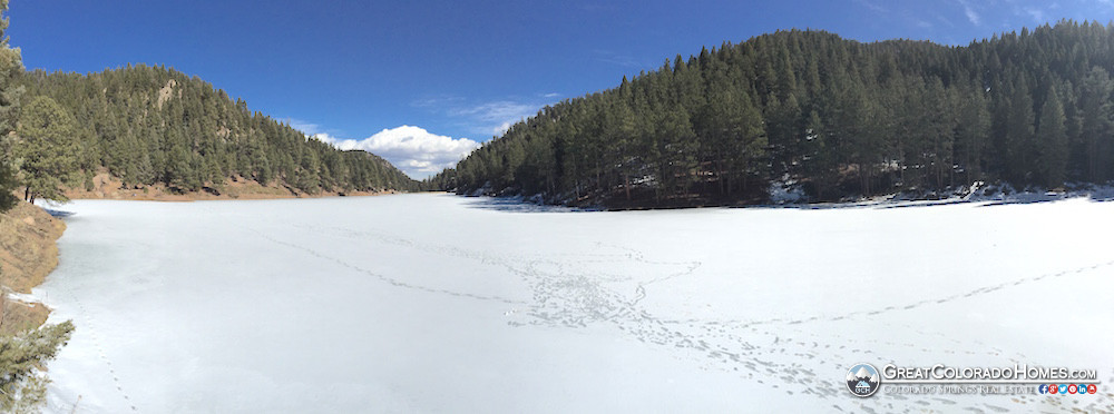 Upper Palmer Lake Reservoir in WInter