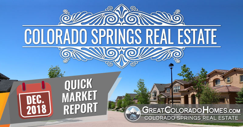 December 2018 Colorado Springs Real Estate Statistics