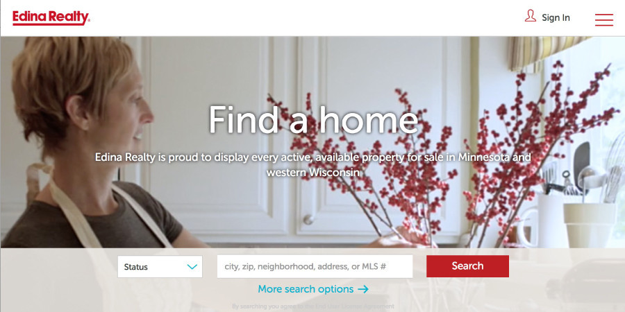 Edina Realty Homepage