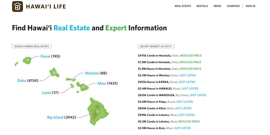 awaii Life Real Estate Brokers Homepage