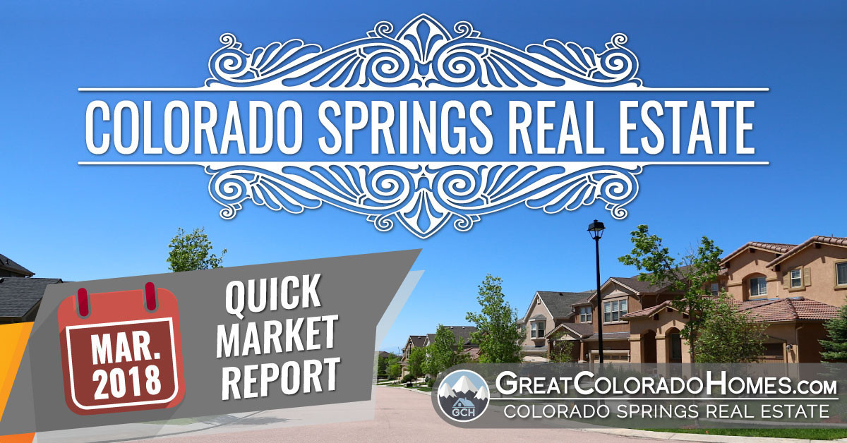 March 2018 Colorado Springs Real Estate Statistics