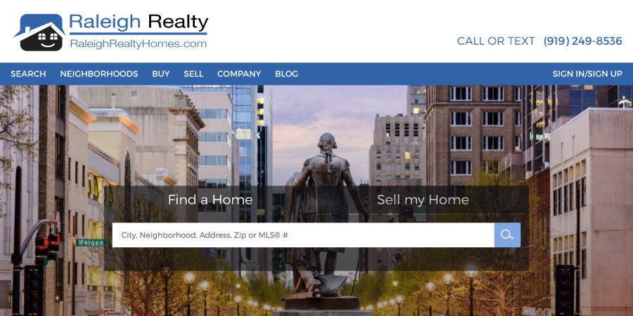 Raleigh Realty Homepage