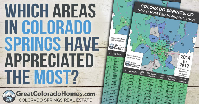 Which Areas in Colorado Springs Have Appreciated The Most Over  The last 5 years?