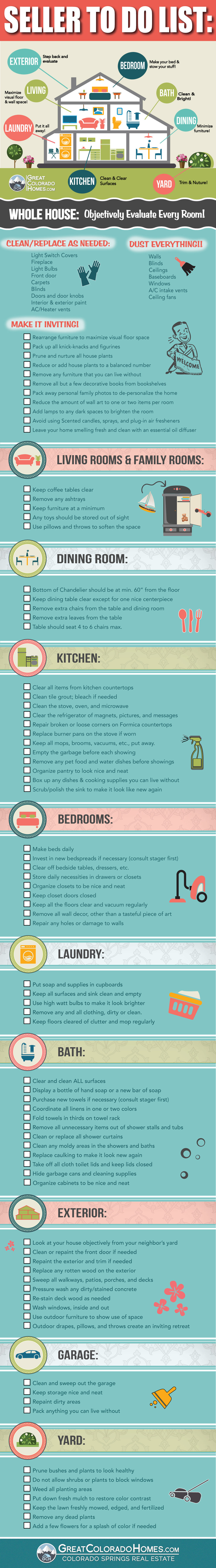 The Ultimate Home Sellers To Do Checklist Infographic